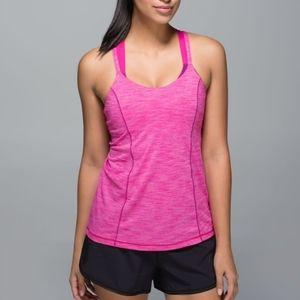 Lululemon Run For Gold Bra Tank Pink Purple Yoga